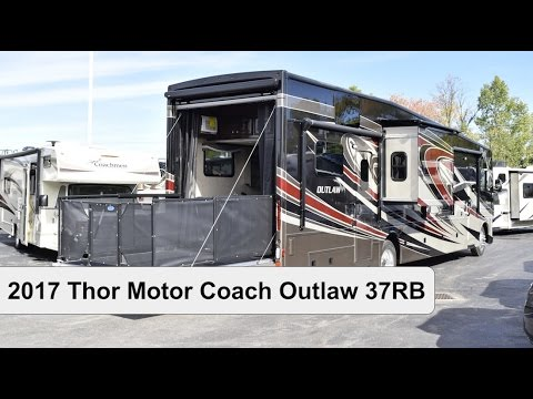 2017 Thor Motor Coach Outlaw 37rb Class A Motorhome Toy Hauler