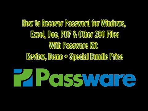 How to Recover Excel, PDF, Windows Password with Passware