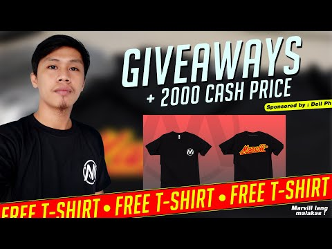 Marvill TV T-Shirts Giveaway with Cash Prize worth 2,000 Pesos