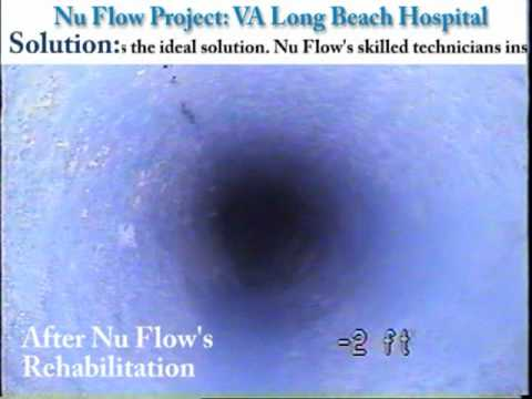 Pipe Lining Project by Nu Flow: VA Long Beach Hospital