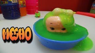 لعبة استحمام الطفل البيبي في السلايم - العاب اطفال-Baby doll shower