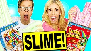 GIANT  LUCKY CHARMS SLIME VS CINNAMON TOAST CRUNCH SLIME CHALLENGE! (NO BORAX)