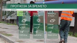 Прогноза за времето на 17-ти, 18-ти и 19-ти Април 2018г.