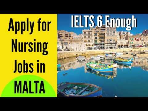 Apply For Nursing Jobs In MALTA   Malta Nursing Job Registration Process