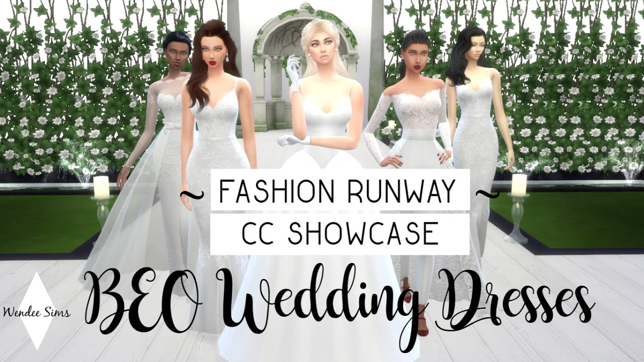 The Sims 4: Fashion Runway | CC Showcase | BEO Wedding Dresses ...