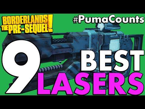 Top 9 Best Laser Weapons in Borderlands: The Pre-Sequel! #PumaCounts