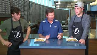 Lightning Home Cooking Competition –  Fried Rice with Brayden Point and Jake Dotchin