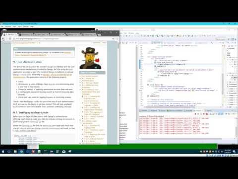 Python/Django Development 12 of 12 - User Authentication/Registration and Page Management