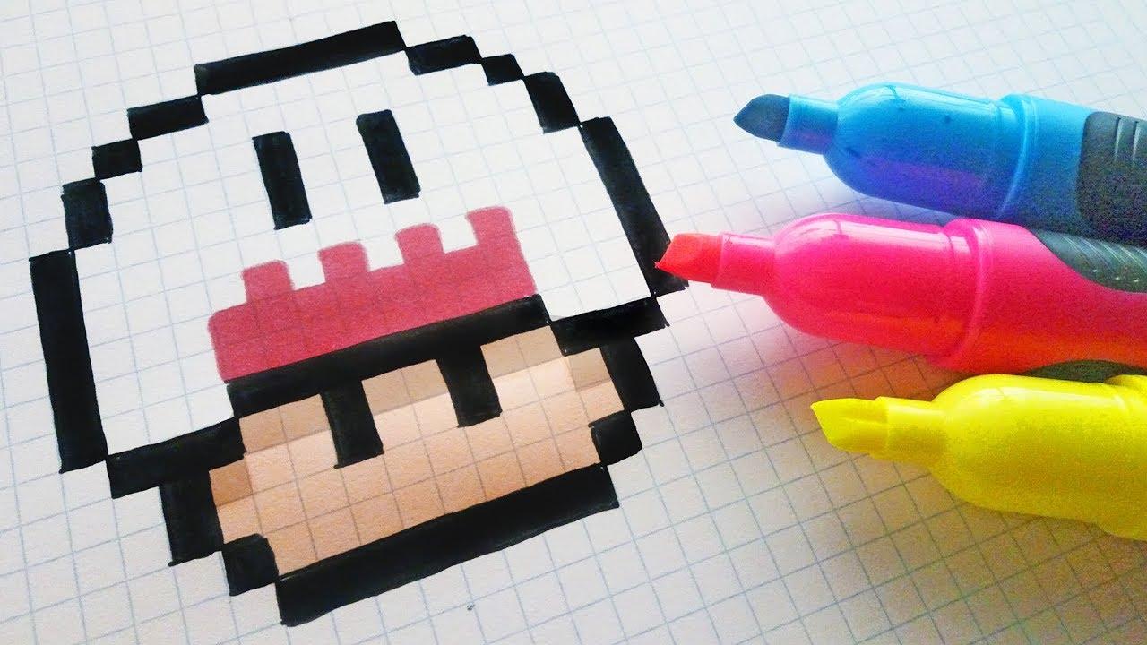 Handmade Pixel Art How To Draw Kawaii Ghost Mushroom Pixelart