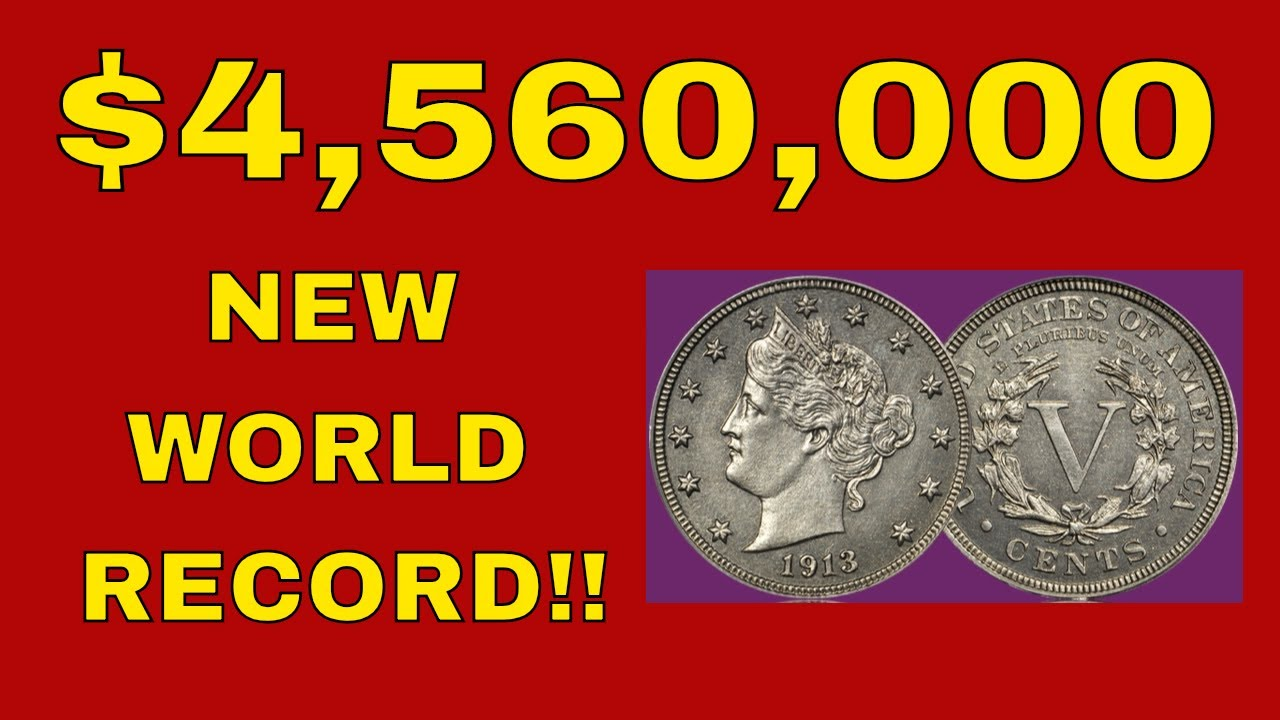 1913 Liberty Head V Nickel Sells For 4 56 Million Top 5 Million