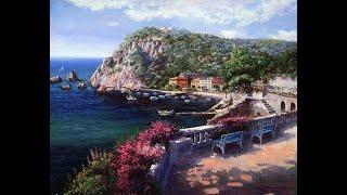 Рисуем Средиземноморье и Волны