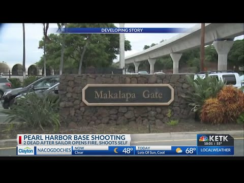 Officials say 3 dead, including alleged gunman, in Pearl Harbor shooting