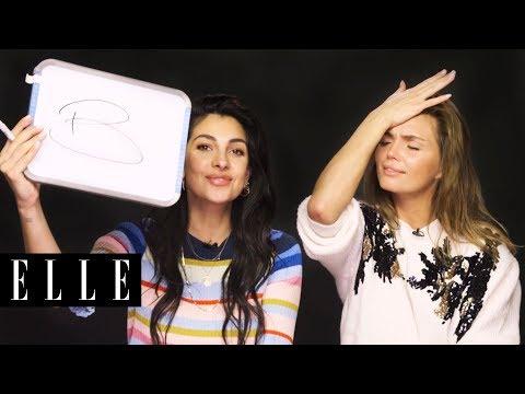 HNTM's Anna Nooshin en Kim Feenstra spelen Wie Is Het | ELLE