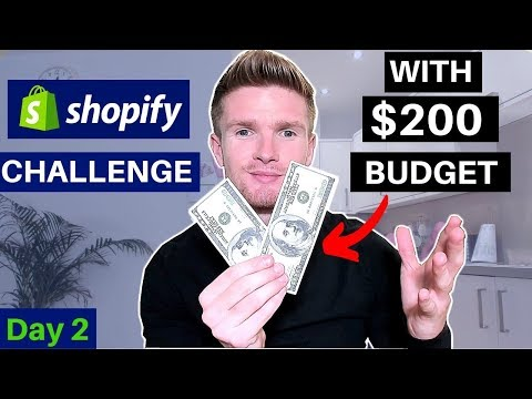 (Day 2) SHOPIFY CHALLENGE! $0-$1000 - ULTIMATE PRODUCT RESEARCH SRATEGY | SHOPIFY DROPSHIPPING thumbnail