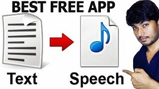 Best Free App for Text to Speech or Voice