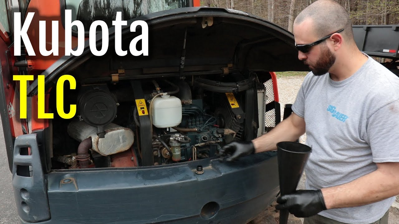 Kubota KX121-3 Excavator Oil Filter & Fuel Filter Change   NH Homestead Vlog