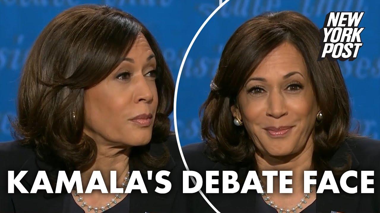 Kamala Harris' facial expressions during vice presidential debate go viral | New York Post