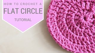 CROCHET: How to ¢rochet a flat circle | Bella Coco