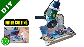 Angle Grinder Chop Saw making