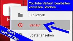 Aktivitätsverlauf auf YouTube / Alle Aktivitäten in meinem Konto ansehen (Löschen) / YouTube Verlauf