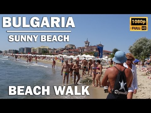 Walk along the beautiful Sunny Beach (Slanchev Bryag) in Bul