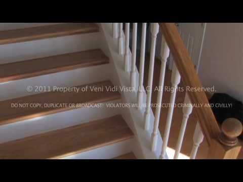 How To Remodel Carpeted Stairs Into Oak Wood Stairs Using Stair Treads    YouTube