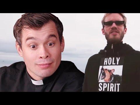 BRITISH PRIEST reacts to PewDiePie: #1 Christian Channel