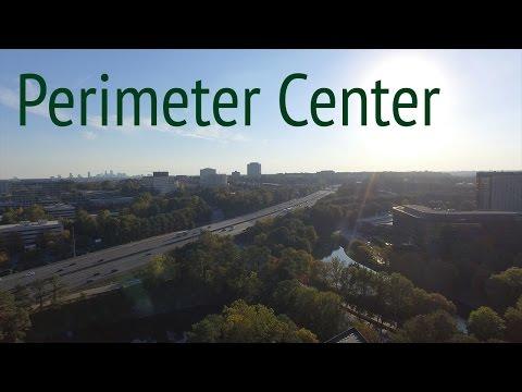 Perimeter Center Sandy Springs Drone in 4k