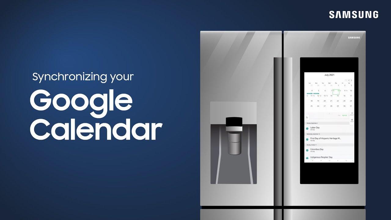 How to sync your Google calendar to your Family Hub fridge | Samsung US