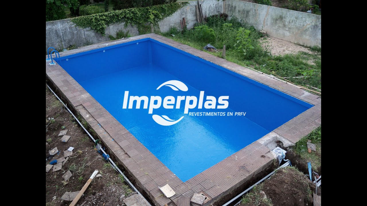 Plastificado de piscina de hormigon imperplas argentina for Materiales para una piscina de hormigon