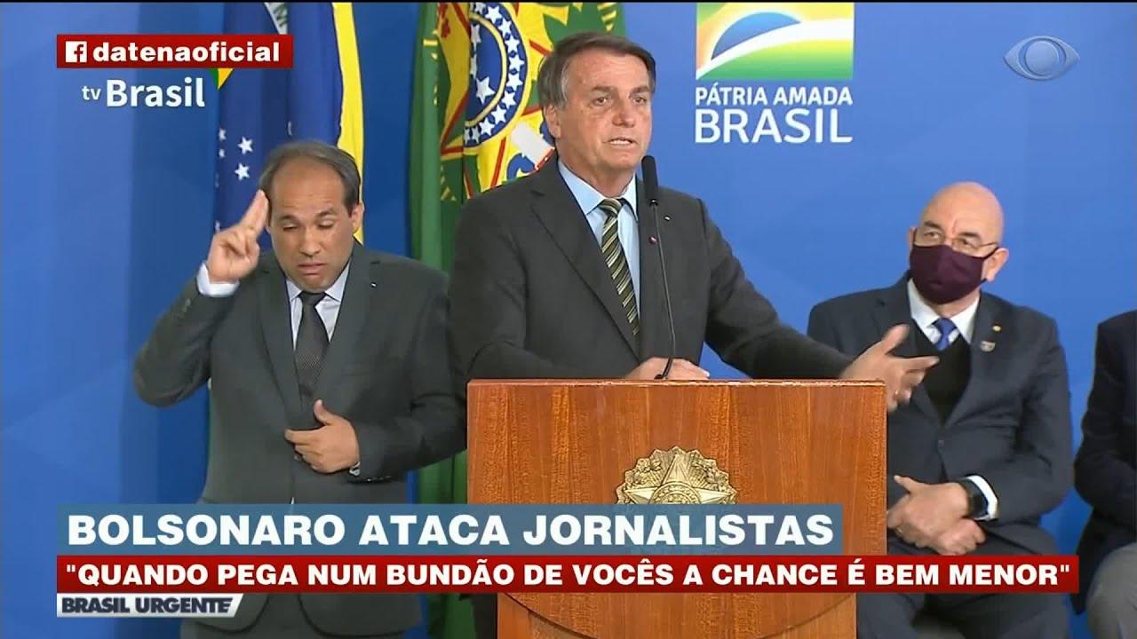 """Após discurso de Bolsonaro Datena se revolta e dispara: """"Bundão é o senhor"""""""