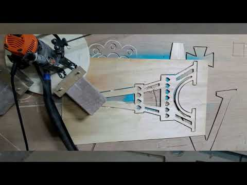 Maslow CNC #10 - Part 2 Inside of Eiffel Tower - The Knot Woodworking