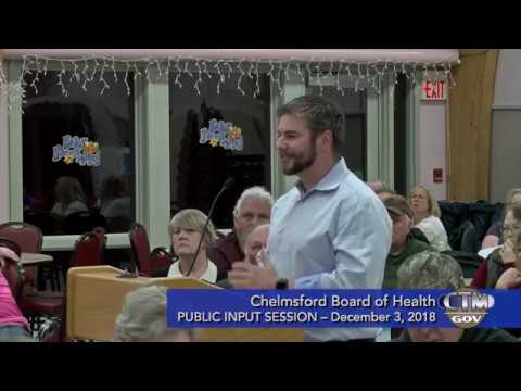 Chelmsford Board of Health Public Input – December 3, 2018
