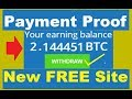 New FREE BITCOIN CLOUD MINING SITE 2019 | Live Payment Proof | No Investment | Earn Free Bitcoin