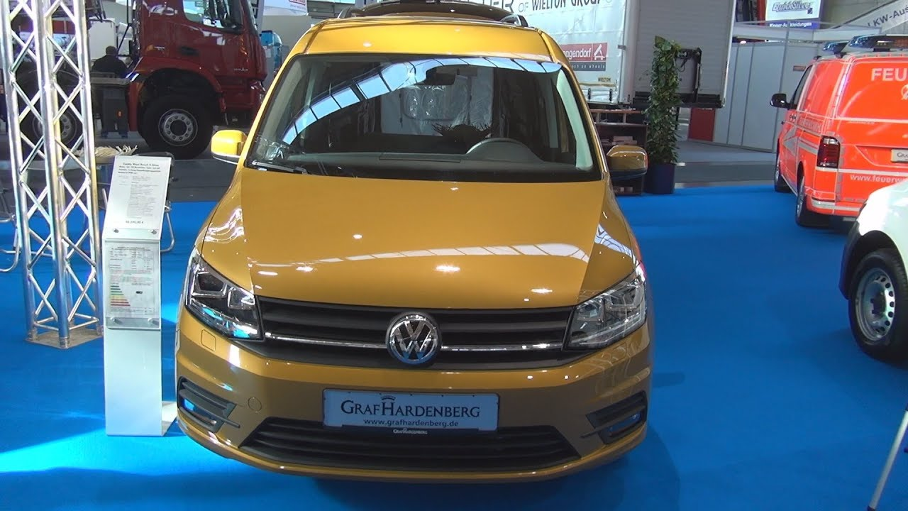 volkswagen caddy maxi beach 5 seater 2 0 tdi 110 kw 6 dsg 2018 exterior and interior youtube. Black Bedroom Furniture Sets. Home Design Ideas