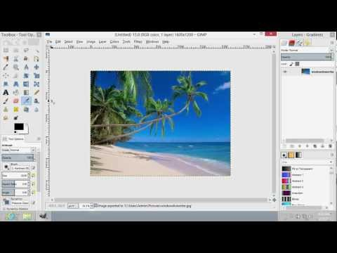 how to change image size in gimp