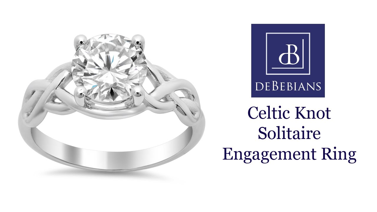 Celtic Knot Solitaire Engagement Ring - YouTube