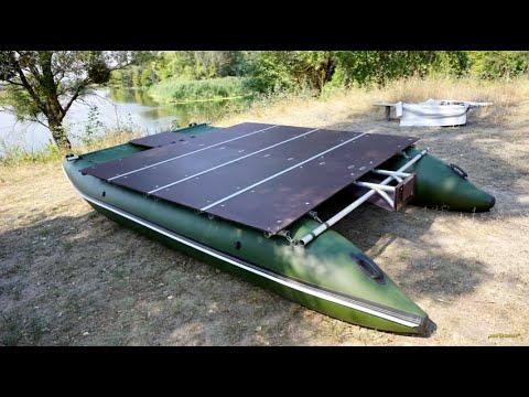 Надувной катамаран с жесткой верхней полубой   Upper deck inflatable catamaran SUNDECK