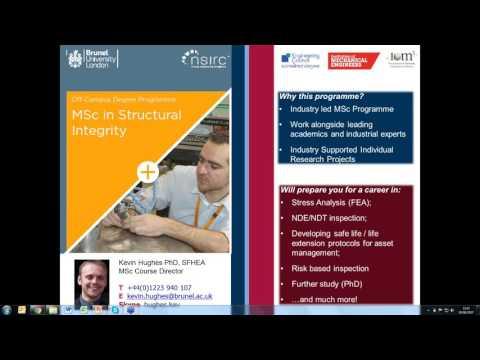 Structural Integrity MSc Webinar 5 June 2017