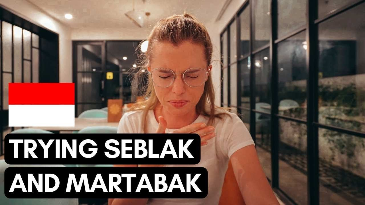 First time trying SEBLAK and MARTABAK   Ramadan buffet and exploring BRAGA street   #Vlog 110