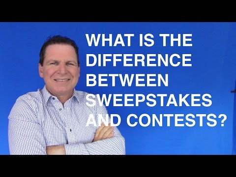 What Is The Difference Between Sweepstakes And Contests?