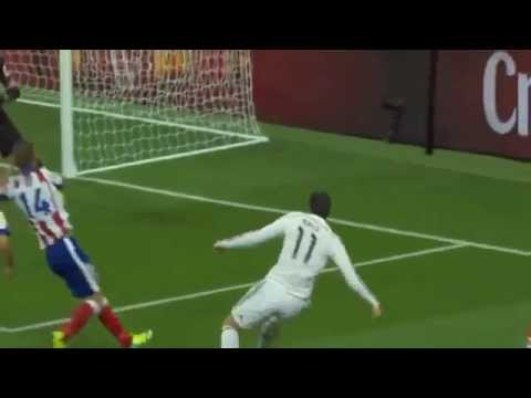 Gareth Bale chance   Real Madrid vs Atletico Madrid   Spanish Super Cup 2014, HD