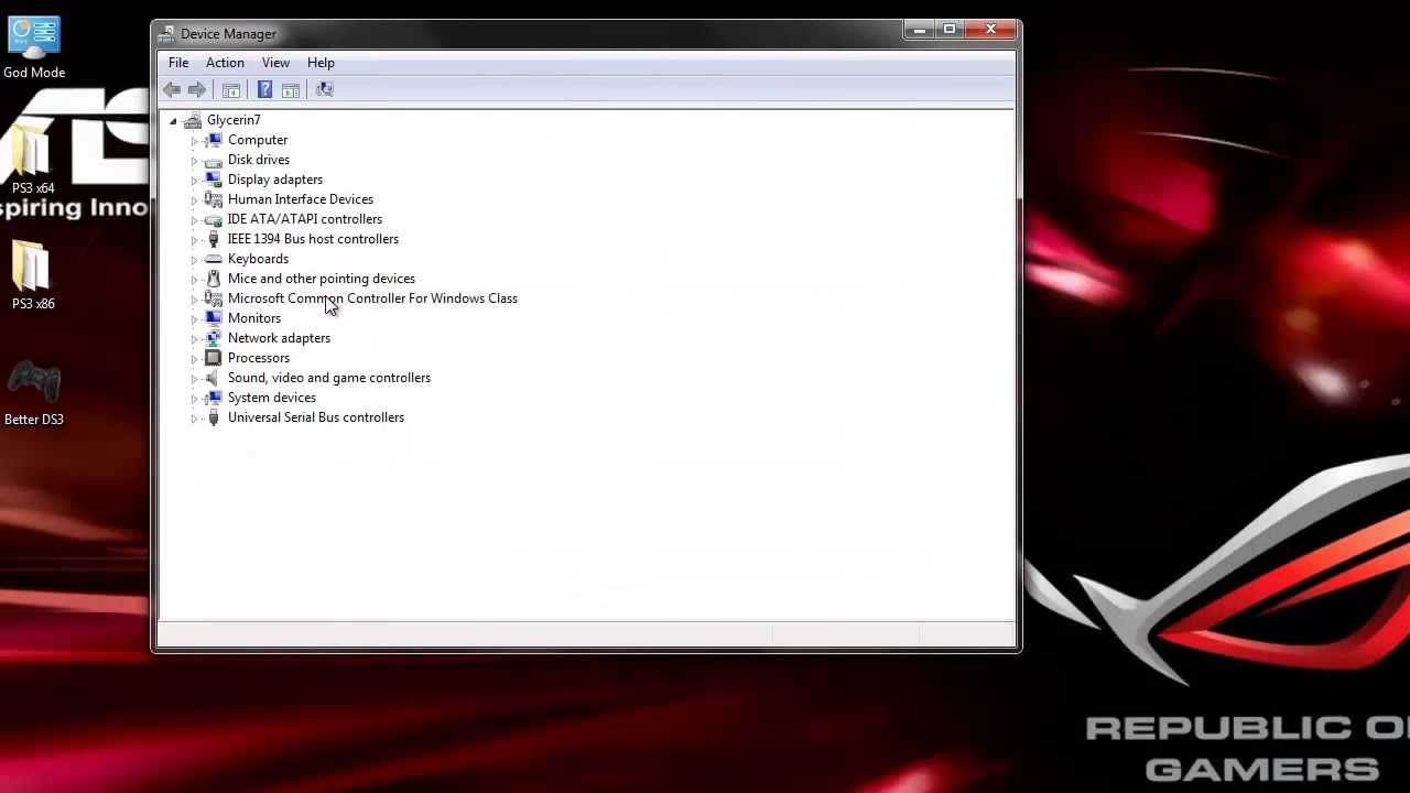 playstation 3 controller driver windows 7