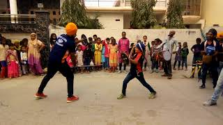 Ranjit gatka player in ambala nenada village