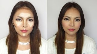 How to make your face look slimmer - highlight and contour Thumbnail