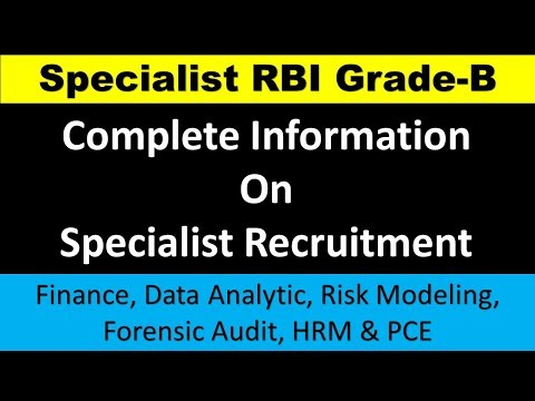 Specialist Grade B DR Recruitment by RBI  Specialized Recruitment - RBI 2018