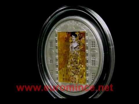 "Cook Islands 2012 20$ ""Adele"" Gustav Klimt Masterpieces of Art 3 Oz Proof Silver Coin .wmv"