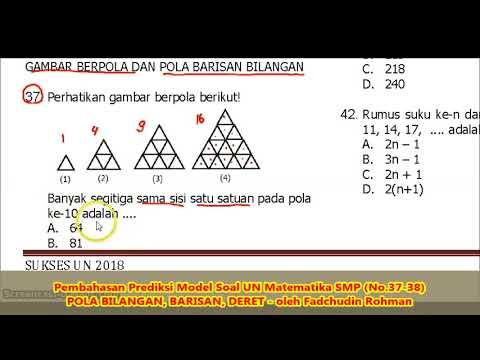 Soal Pola Bilangan No 37 38 Pembahasan Soal Matematika Smp Mts Youtube