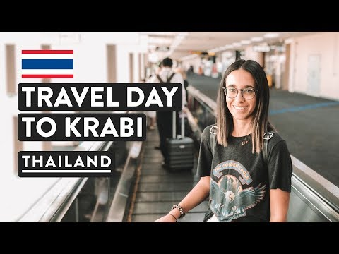 AIRPORT LOUNGES & BANGKOK TO KRABI | Thailand Travel Vlog |