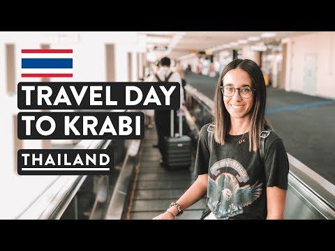 AIRPORT LOUNGES & BANGKOK TO KRABI | Thailand Travel Vlog | DMK Flight
